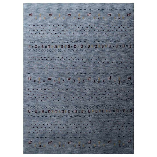 St Catherine Hand-Knotted Wool Light Blue Area Rug by Millwood Pines