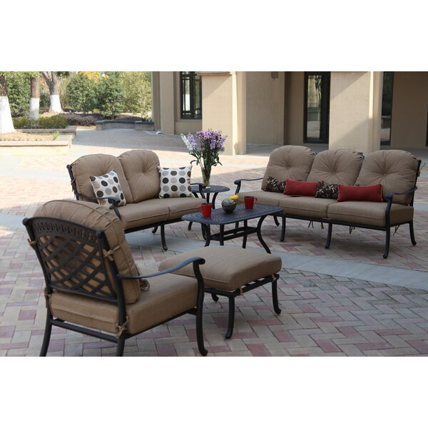 Thompson 6 Piece Sofa Seating Group with Cushions by Alcott Hill