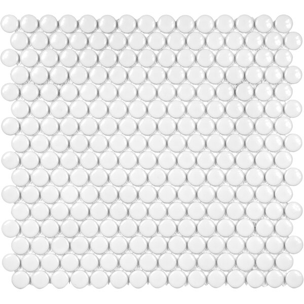Sail 0.75 x 0.75 Ceramic/Porcelain Mosaic Tile in White by Parvatile
