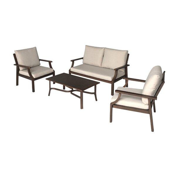 Vaidya 4 Piece Sofa Seating Group with Cushions by Latitude Run