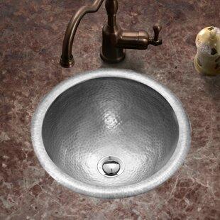 Read Reviews Hammerwerks Metal Circular Drop-In Bathroom Sink with Overflow By Houzer