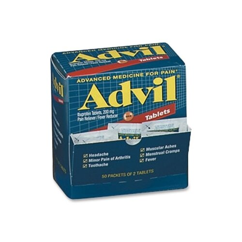 Advil Pain Reliever Refill (50 Packets of 2 Tablets) by Acme United Corporation
