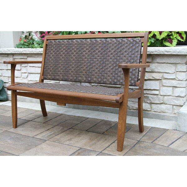 Liya Lounger Wooden Garden Bench by Beachcrest Home