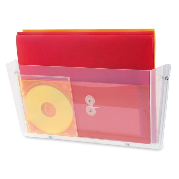 Unbreakable Docupocket Single Pocket Wall File, Letter, Clear by Deflect-O Corporation