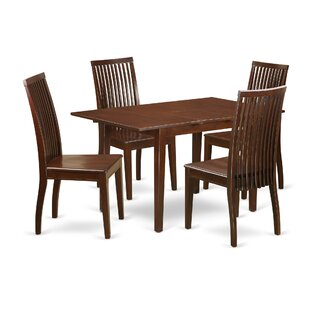 Katie 5 Piece Solid Wood Dining Set ByAlcott Hill