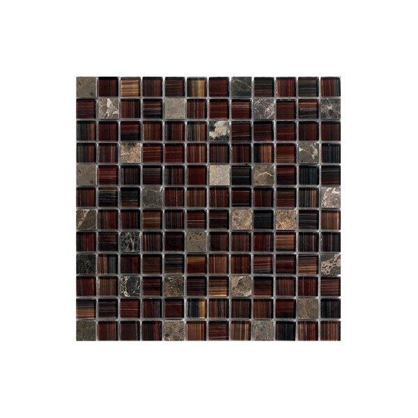 12 x 12 Glass Mosaic Tile in Brown by Kellani