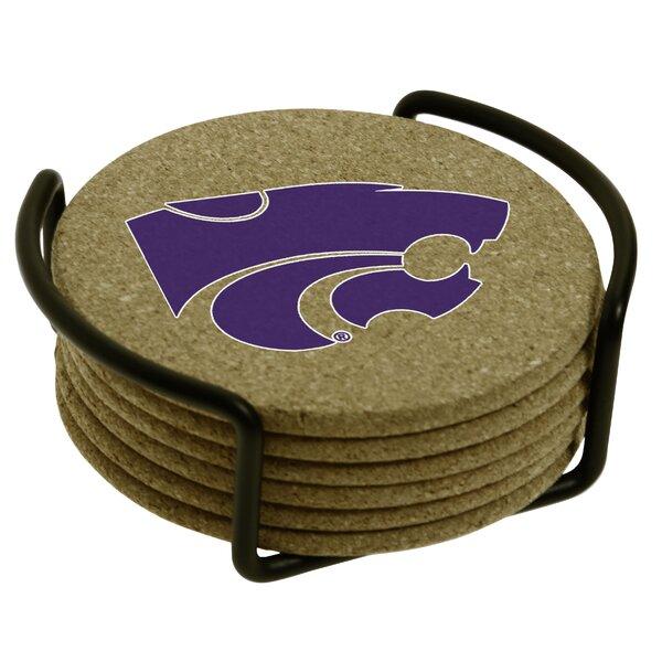 7 Piece Kansas State University Cork Collegiate Coaster Gift Set by Thirstystone