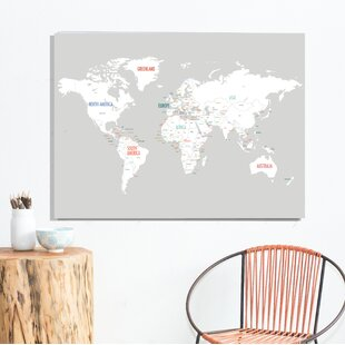 rehkop world map paper print