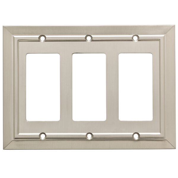 Classic Architecture Triple Decorator Wall Plate by Franklin Brass