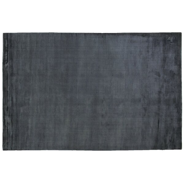 Dove Courduroy Hand-Woven Navy Area Rug by Exquisite Rugs