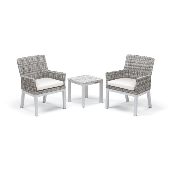 Caspian 3 Piece Rattan Seating Group with Cushions by Sol 72 Outdoor
