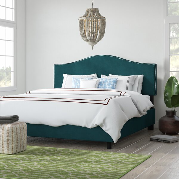 Mystere Nail Button Upholstered Standard Bed by Beachcrest Home