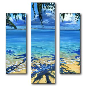 Palm Tree Shadows Triptych 3 Piece Wall Plaque Set by Stupell Industries