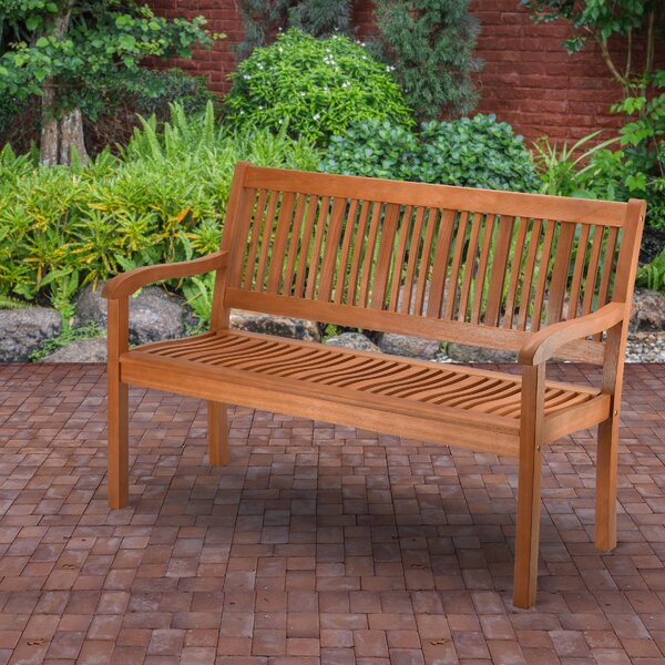 Konnor Wooden Garden Bench by Union Rustic