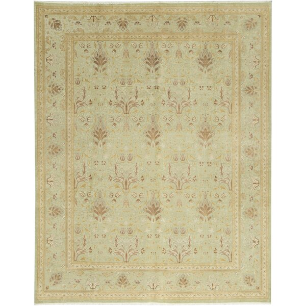 One-of-a-Kind Hand-Knotted Wool Light Green Area Rug by Bokara Rug Co., Inc.