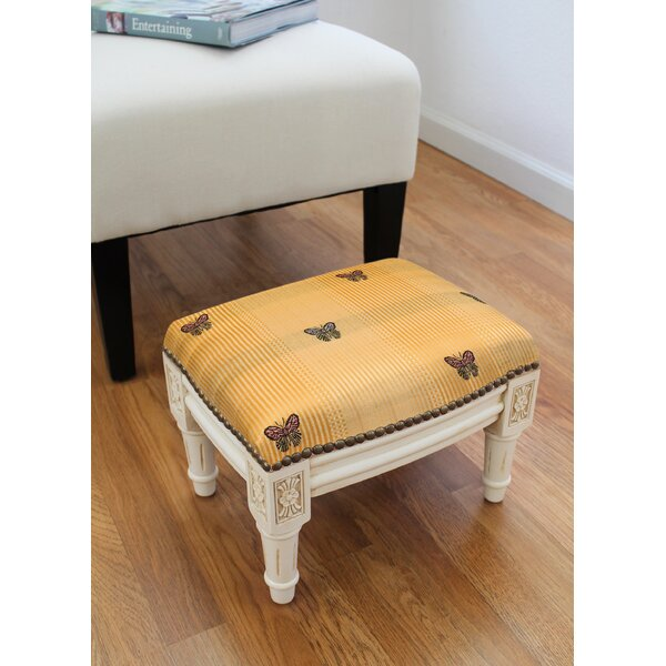 Lynmouth Butterfly Ottoman by Canora Grey Canora Grey