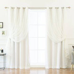 White Tulle Curtains