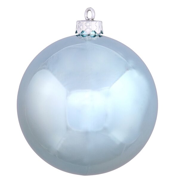 UV Drilled Shiny Ball Ornament (Set of 12) by The Holiday Aisle