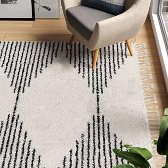Borgen Geometric Gray Area Rug Reviews Allmodern