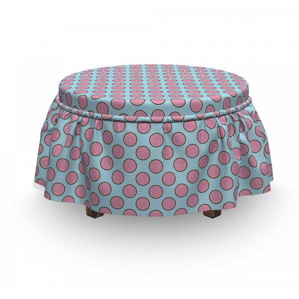 Yummy Pie Flat Design Ottoman Slipcover (Set Of 2) By East Urban Home