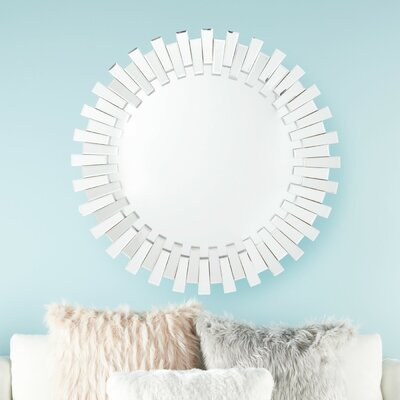 Silver Wood Frame Mirror Wayfair