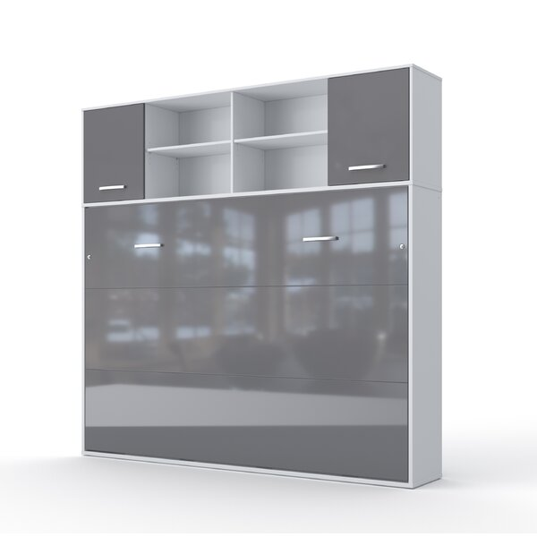 Daysi Horizontal Full Storage Murphy Bed with Mattress by Orren Ellis Orren Ellis