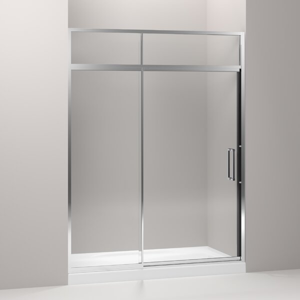 Lattis 60 x 89.5 Pivot Shower Door with Sliding Steam Transom with CleanCoat® Technology by Kohler