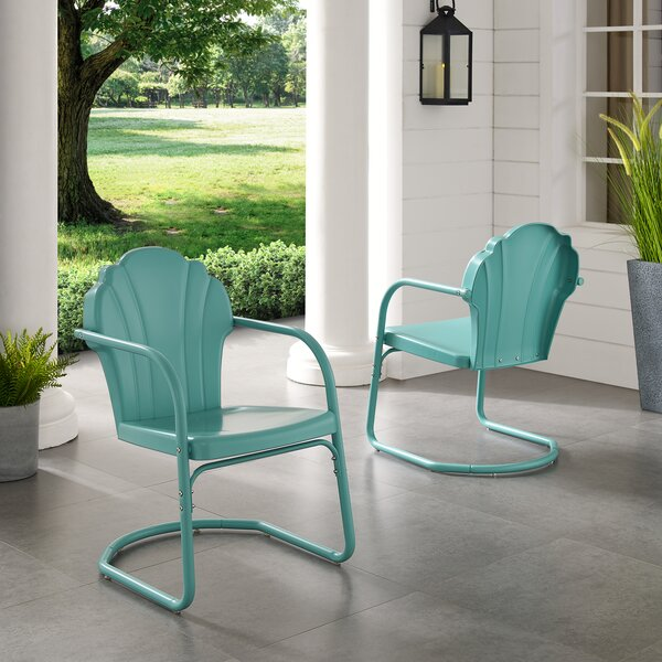 Karim Metal Patio Dining Chair (Set of 2) by Wrought Studio