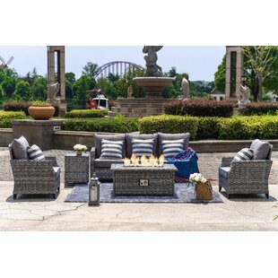 Braylee 5 Piece Sofa Seating Group with Cushions By Highland Dunes