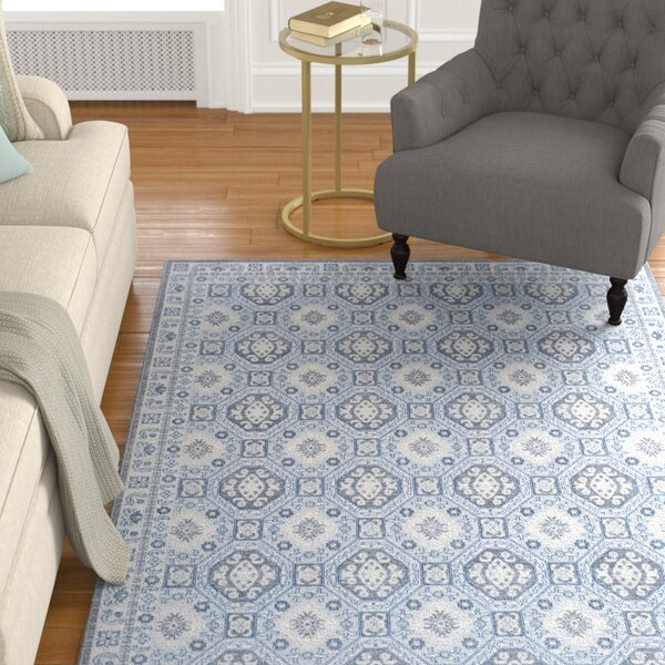 Harwood Cotton Gray Area Rug by Darby Home Co