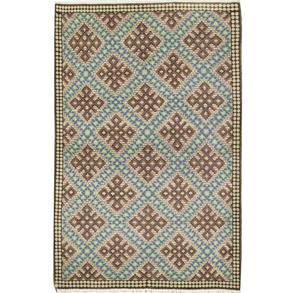 Semi-Antique Romania Hand-Knotted Wool Brown/Green Area Rug by Bokara Rug Co., Inc.