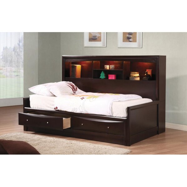 Stroud Storage Mates Bed with Bookcase and Drawers by Harriet Bee