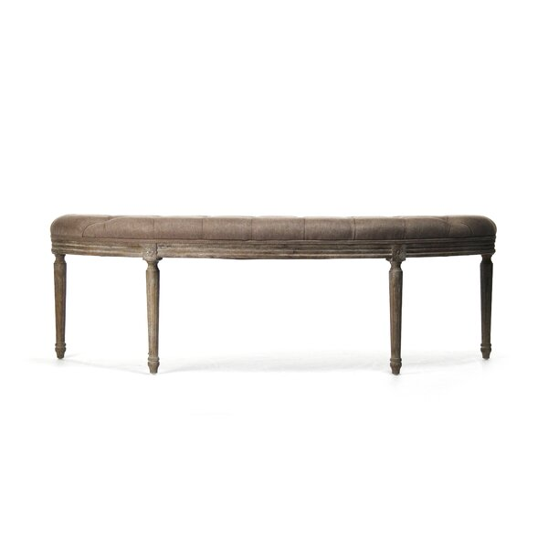 Arviso Curved Upholstered Bench by One Allium Way