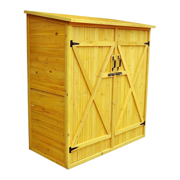 4 ft. 11 in. W x 2 ft. 7 in. D Wooden Lean-To Tool Shed by Leisure Season
