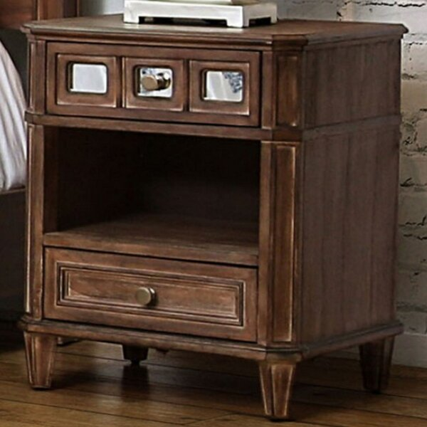 Massasoit 2 Drawer Nightstand by Millwood Pines