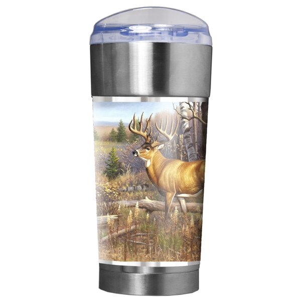 Whitetail Traditions 24 oz. Stainless Steel Travel Tumbler by Great American Products
