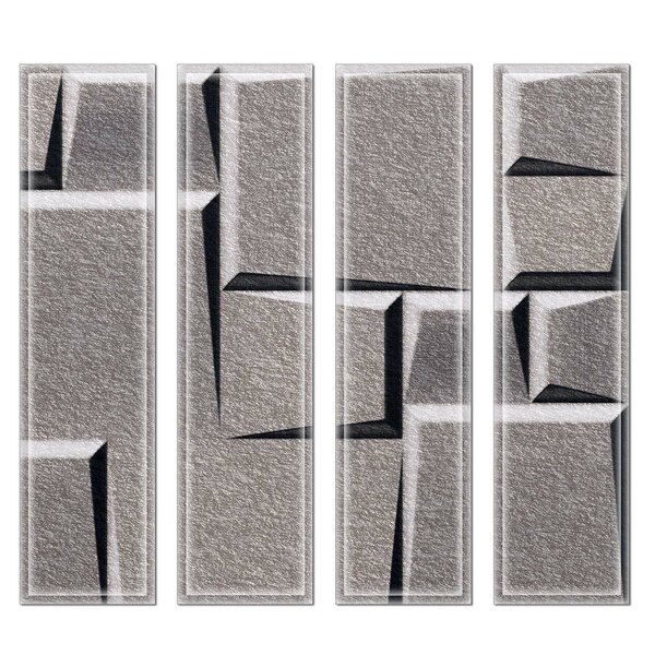 Crystal 3 x 12 Beveled Glass Subway Tile in Gray/Green by Upscale Designs by EMA