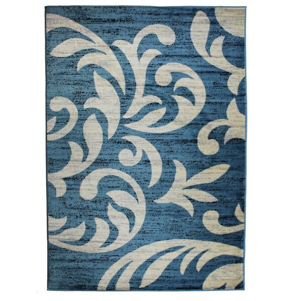 Cummington Hand-Tufted Sky Blue/Beige Area Rug by Winston Porter