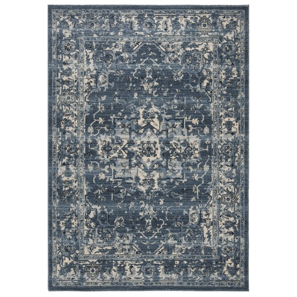 Jase Navy/Creme Area Rug by Charlton Home