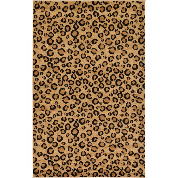 Leif Light Brown Area Rug by World Menagerie