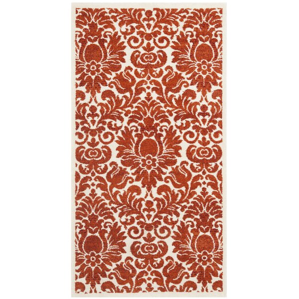 Cargin Red & Ivory Area Rug by Astoria Grand