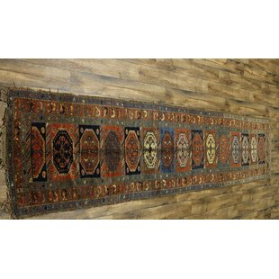 One-of-a-Kind Andreas Antique Caucasian Russian Hand-Knotted Wool OrangeBrown IndoorOutdoor Area Rug