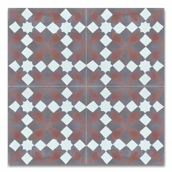 Joana 8 x 8 Handmade Cement Tile in Multicolor by Moroccan Mosaic