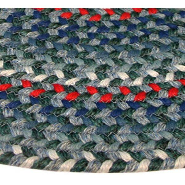 Pioneer Valley II Carribean Blue Multi Elongated Octagon Rug by Thorndike Mills