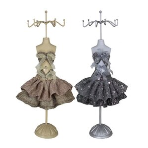 2 Piece Mannequin Jewelry Stand Set by ESSENTIAL D?COR & BEYOND, INC