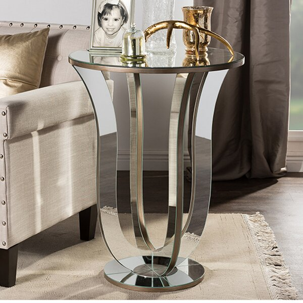Gimenez Modern Mirrored End Table by Orren Ellis