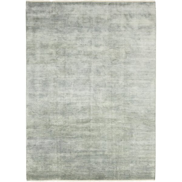 One-of-a-Kind Diederich Hand-Knotted Wool Blue Indoor Area Rug by Foundry Select