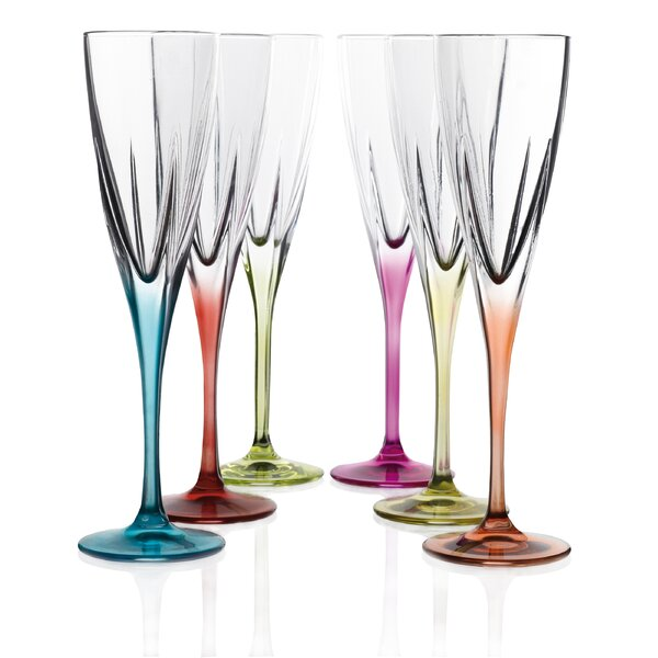 Logic Crystal Champagne Flute (Set of 6) by Lorren Home Trends
