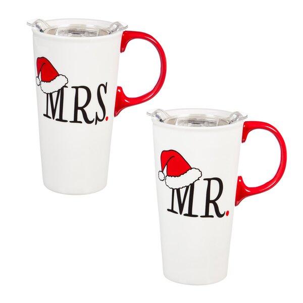 Carina Mr and Mrs 2 Piece Travel Mug Set by The Holiday Aisle
