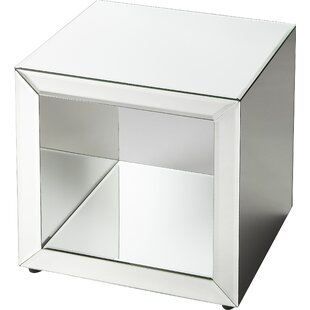 Mirrored Cube End Table Wayfair - Mirrored cube end table
